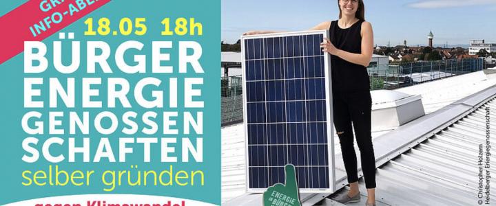 Info-Abend – Energiegenossenschaften nehmen die Energieversorgung selbst in die Hand
